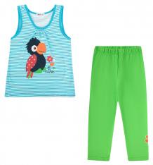 Купить комплект футболка/леггинсы shishco, цвет: голубой/зеленый ( id 8908177 )