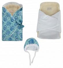 Комплект на выписку Leo, цвет: бирюзовый шапка/вкладыш/одеяло-конверт ( ID 9715041 )