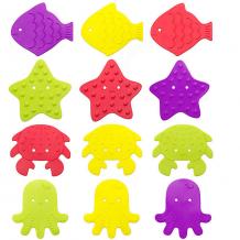 Купить антискользящие мини-коврики roxy-kids для ванны, 12 шт. 10734355