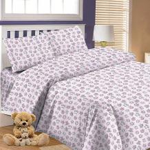 Детское постельное белье 3 предмета Letto, простыня на резинке, BGR-66 ( ID 7949266 )