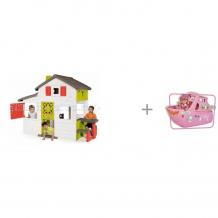Купить smoby домик для друзей с кухней и игровой набор кукла еви на круизном корабле 12 см simba