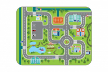 Купить игровой коврик wolli matlig плюшевый городские дороги 3 в 1 130х180 см б-0330