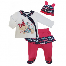 Купить soni kids комплект (кофточка, ползунки и шапочка) прогулка с мими з7121033