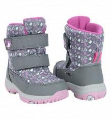 Купить ботинки kenka, цвет: серый ( id 10076622 )