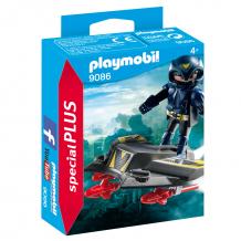 Купить конструктор playmobil экстра-набор: небесный рыцарь с самолетом 9086pm