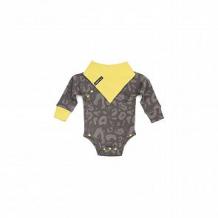 Купить комплект боди/нагрудник happy baby дикий кот, цвет: серый ( id 10647125 )