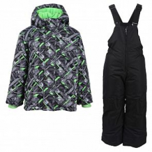 Купить комплект куртка/полукомбинезон salve, цвет: черный/зеленый ( id 10675817 )
