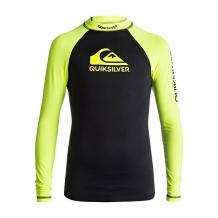 Гидрофутболка детская Quiksilver On Tour Boys Safety Yellow Black черный ( ID 1204428 )