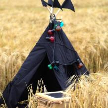 Купить vamvigvam вигвам black hawk с окном и карманом 110х110 см vv010349