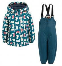 Купить комплект куртка/полукомбинезон fobs, цвет: синий ( id 6193387 )