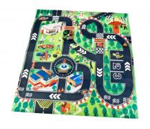 Купить игровой коврик технопарк с дорожными знаками и двумя металлическими машинками 80672f-r