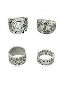Купить 4pcs vintage wide ring set 278480902