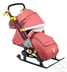 Санки-коляска Nika Kids (7-3), цвет: красный ( ID 6768331 )