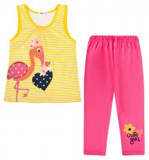 Купить комплект футболка/леггинсы shishco, цвет: желтый/розовый ( id 8908195 )