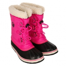 Купить сапоги зимние детские sorel yoot pac nylon haute pink розовый,черный ( id 1164867 )