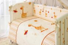 Купить комплект в кроватку perina кроха из сатина (7 предметов) к7