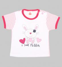 Купить футболка makoma pink rabbit, цвет: белый ( id 5559643 )