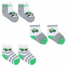 Купить носки 3 пары yo!, цвет: белый/серый ( id 11708602 )