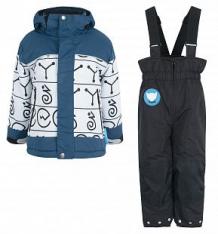 Купить комплект куртка/полукомбинезон dudelf, цвет: синий/серый ( id 9470208 )