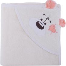 Купить полотенце с капюшоном мишки fun dry, twinklbaby, светло-бежевый с персиковыми ушками ( id 7189313 )