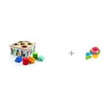 Купить сортер djeco пингвины и развивающая игрушка maman пирамидка 9055