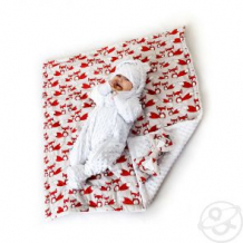 Купить комплект на выписку фокс slingme, цвет: оранжевый комбинезон/одеяло/шапка/снуд/бант 90 х 90 см ( id 12797578 )