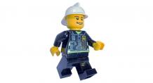 Купить часы clic time будильник lego city минифигура fireman 9003844
