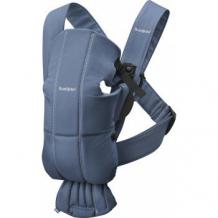 Купить рюкзак-переноска baby bjorn mini cotton, индиго babybjorn 997006034