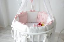 Купить бортик в кроватку krisfi розовый сон 120x60 и 125x75 12 подушек бп10051