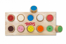 Купить деревянная игрушка troys лото сенсорное ws001