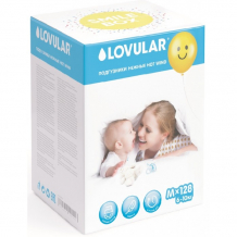 Купить lovular new smile box подгузники hot wind m (6-10 кг) 128 шт. 429149