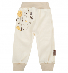 Купить брюки linea di sette зверята, цвет: бежевый 90201