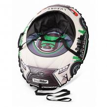 Купить тюбинг с сиденьем small rider snow cars 3 lx, зелёные ( id 9578743 )