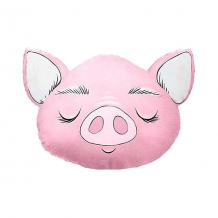 """Купить подушка ligra """"свинка"""" ручной работы, 50х55 см, розовая 10627208"""
