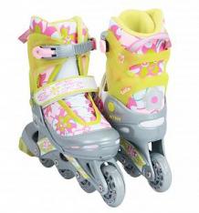 Купить коньки action sport роликовые, цвет: салатовый ( id 480319 )