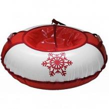 Купить тюбинг иглу снежинка (95 см), цвет: красный ( id 6713281 )