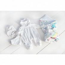 Купить комплект на выписку полянка slingme, цвет: белый комбинезон/одеяло/шапка/снуд/бант 90 х 90 см ( id 12797878 )
