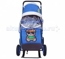 Купить санки-коляска galaxy snow city-1-1 зеленый мишка колеса надувные