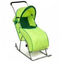 Купить санки-коляска фея метелица люкс с тентом 0005573-01