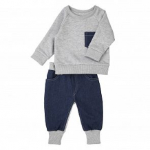 Купить комплект джемпер/брюки грачонок, цвет: серый/синий ( id 12662632 )