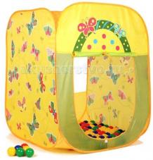 Купить babyone ching-ching дом + 100 шаров бабочки (квадрат) 85х85х100 cbh-21