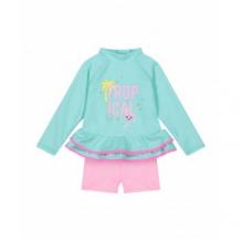 Купить футболка солнцезащитная и шорты в комплекте, бирюзовый, розовый mothercare 4195007