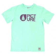 Футболка детская Picture Organic Basement Pastel Green голубой ( ID 1154382 )