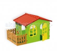 Купить mochtoys игровой домик с забором 10498