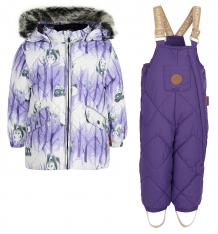 Купить комплект куртка/брюки huppa noelle 1, цвет: фиолетовый 41820130-72353-074