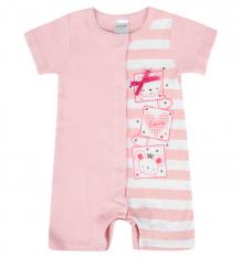 Купить комбинезон play today кошки и мышки, цвет: розовый/белый 178810