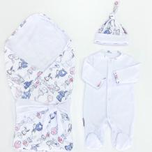 Купить комплект на выписку супермамкет летний (комбинезон, шапочка, плед, лента) зайчишка kompl-l02/зайчишка2