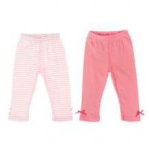 Комплект брюки 2 шт Play Today, цвет: белый/розовый ( ID 2766689 )