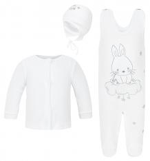 Купить комплект джемпер/полукомбинезон/шапка koala obloczek, цвет: белый ( id 8183647 )