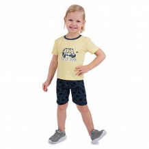 Купить комплект футболка/шорты мелонс dino, цвет: желтый/серый ( id 11207588 )